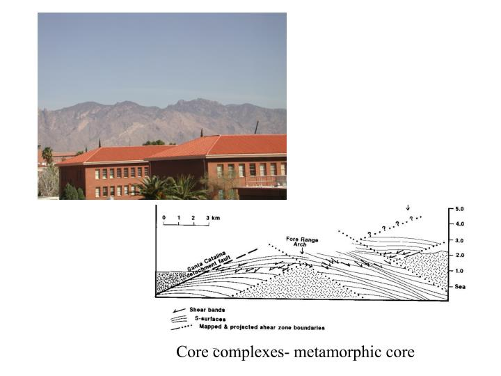 Core complexes- metamorphic core