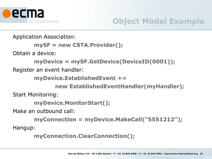 Object Model Example