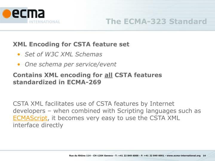The ECMA-323 Standard