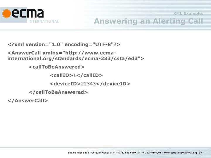 XML Example: