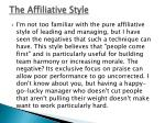 the affiliative style