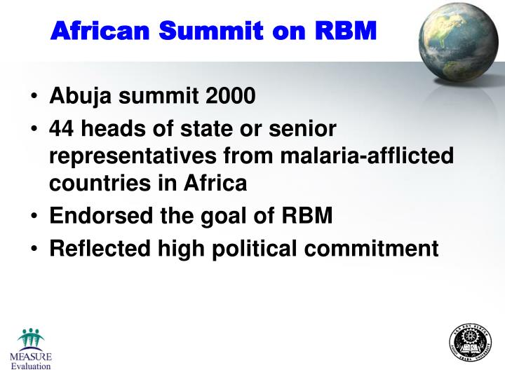 African Summit on RBM