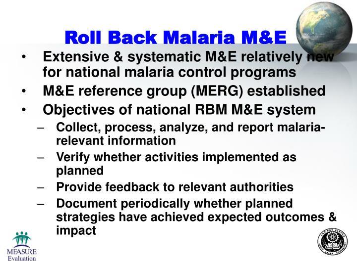 Roll Back Malaria M&E