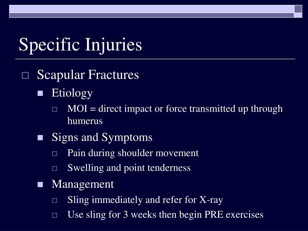 Specific Injuries