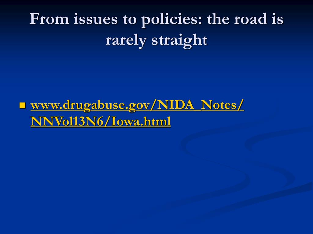 From issues to policies: the road is rarely straight