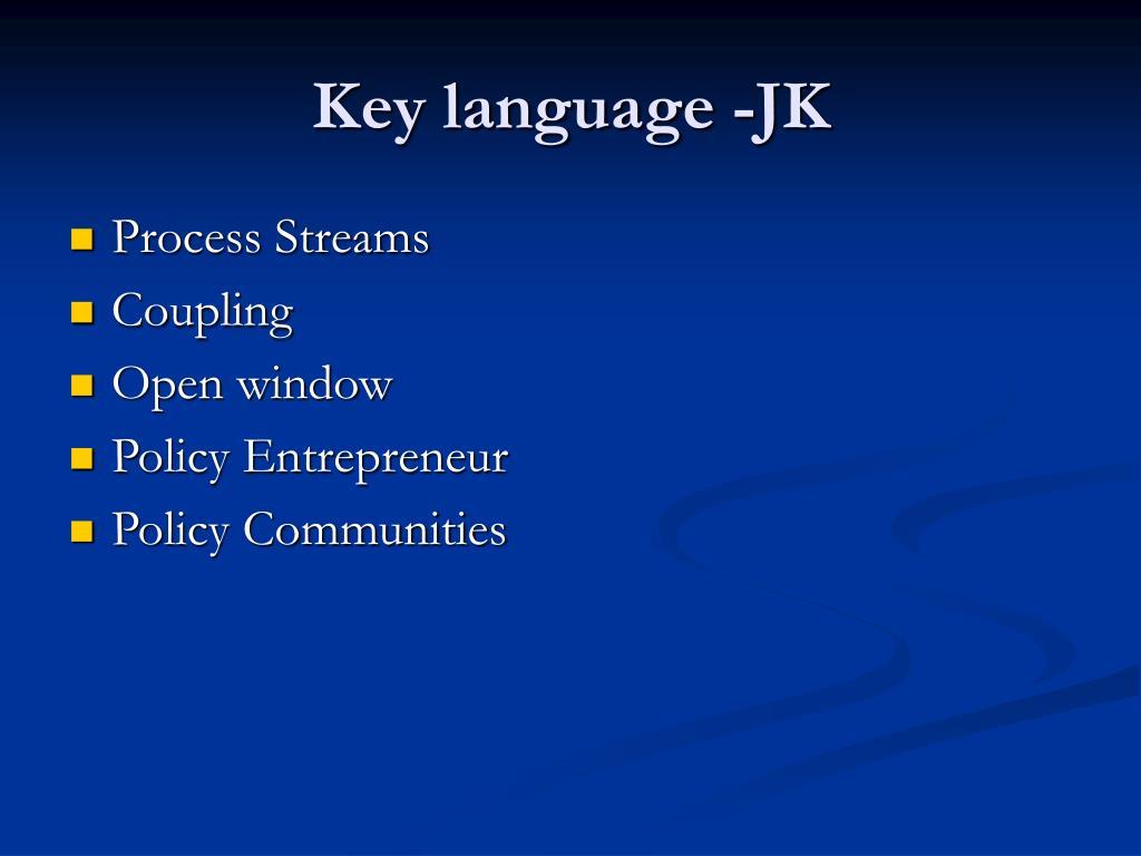 Key language -JK