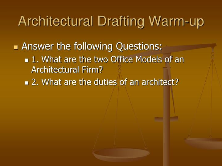 Architectural Drafting Warm-up