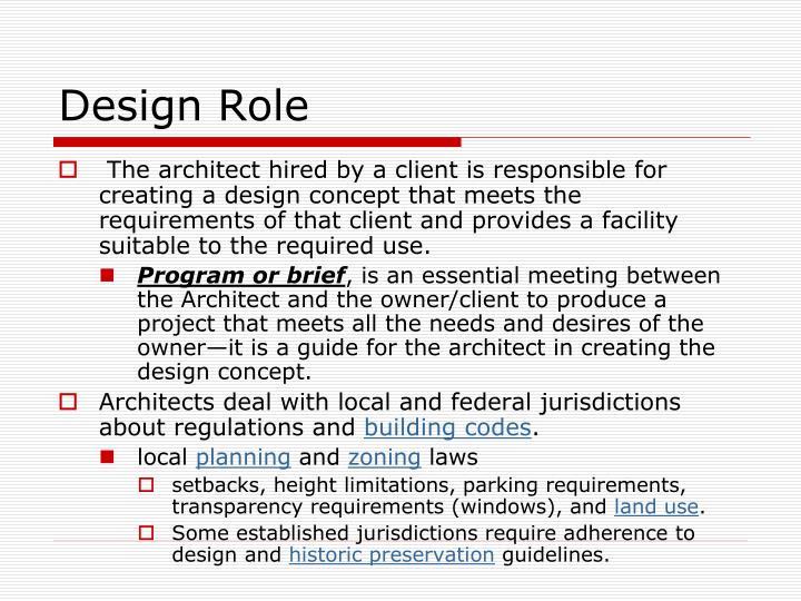 Design Role