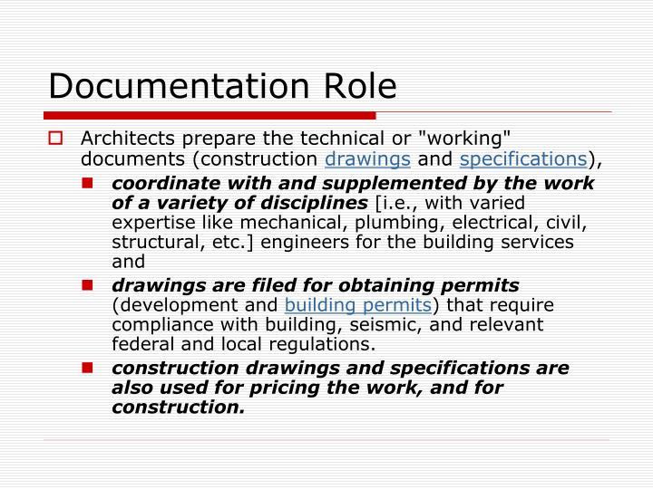 Documentation Role