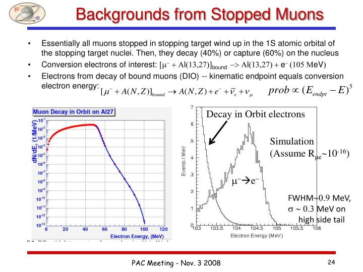Backgrounds from Stopped Muons