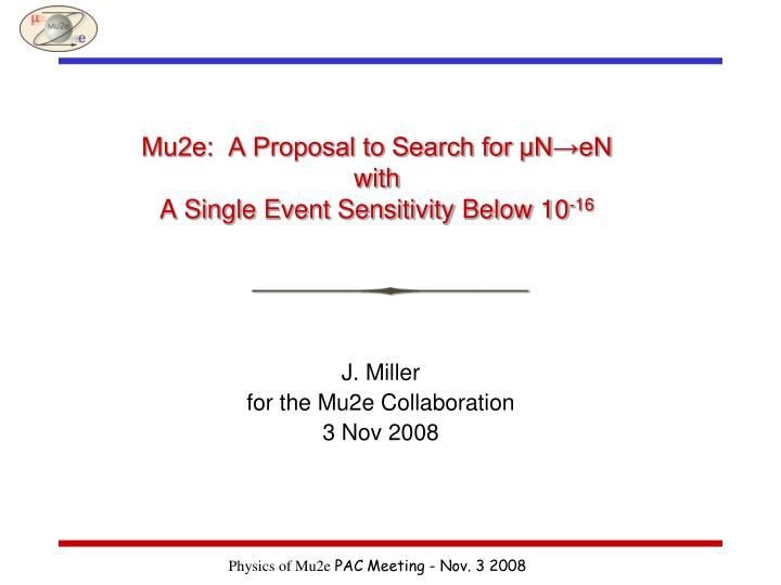 Mu2e a proposal to search for n en with a single event sensitivity below 10 16