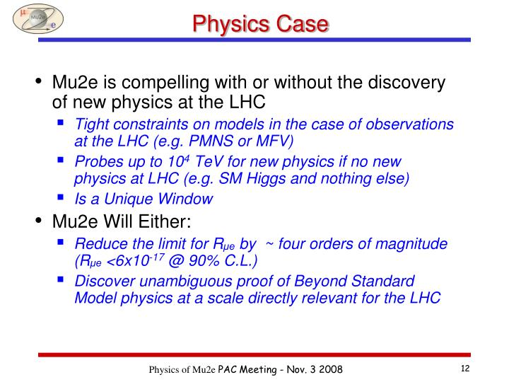 Physics Case