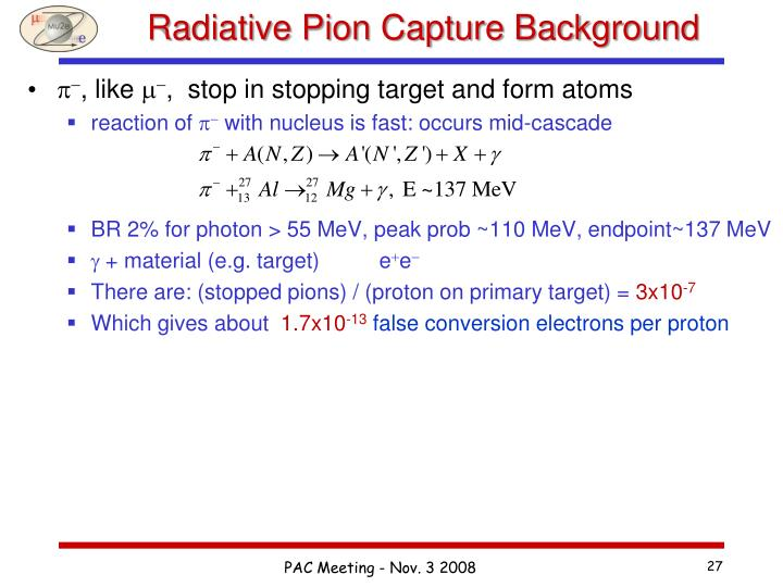 Radiative Pion Capture Background
