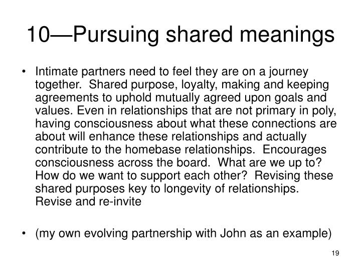 10—Pursuing shared meanings