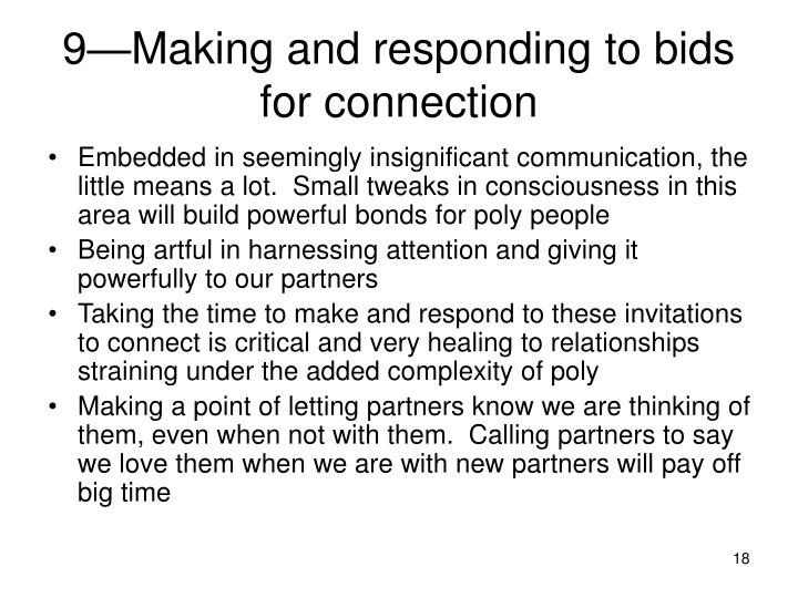 9—Making and responding to bids for connection