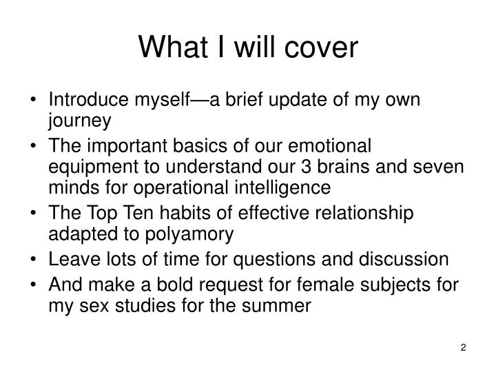 What i will cover