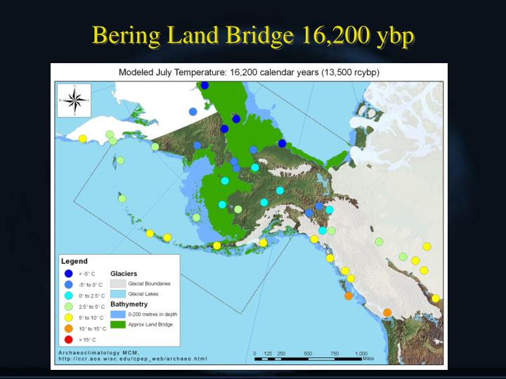 Bering Land Bridge 16,200 ybp