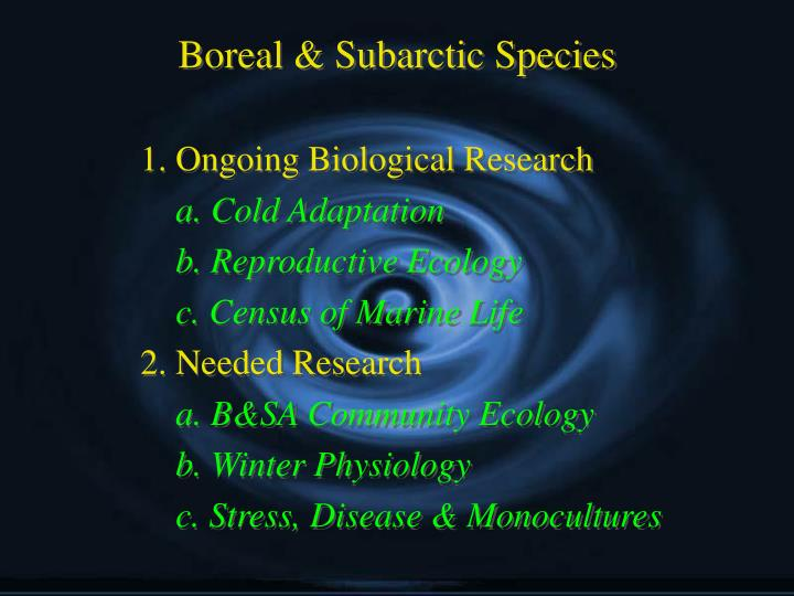 Boreal & Subarctic Species