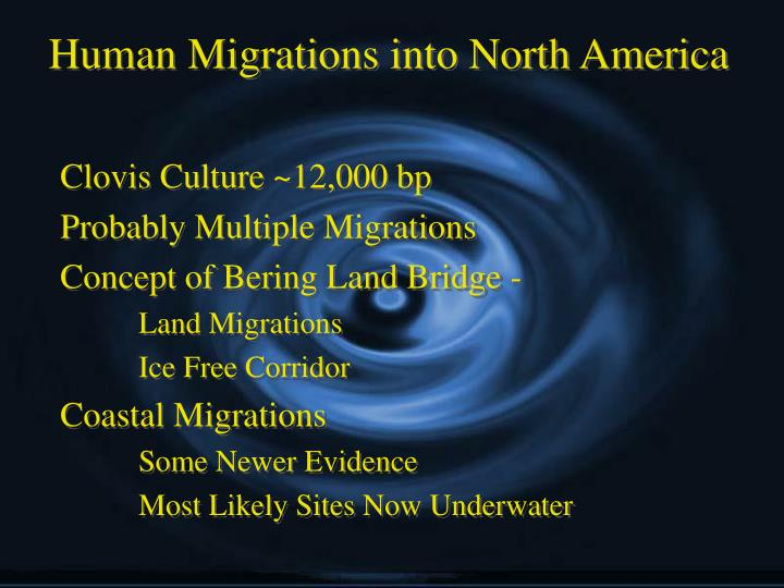 Human Migrations into North America