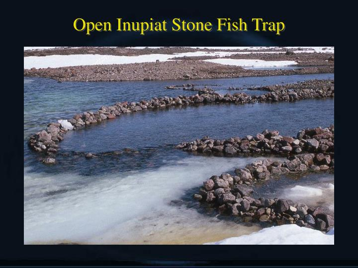 Open Inupiat Stone Fish Trap