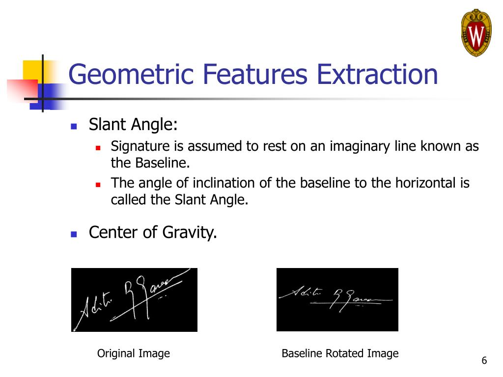 Geometric Features Extraction