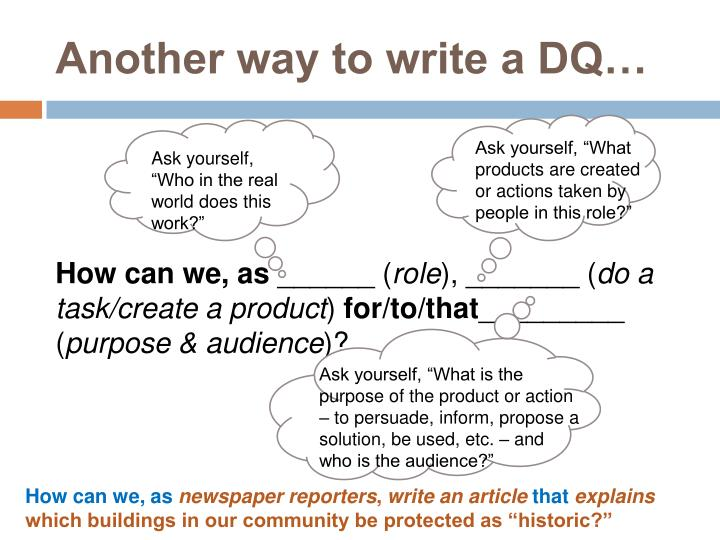 Another way to write a DQ…