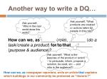 another way to write a dq