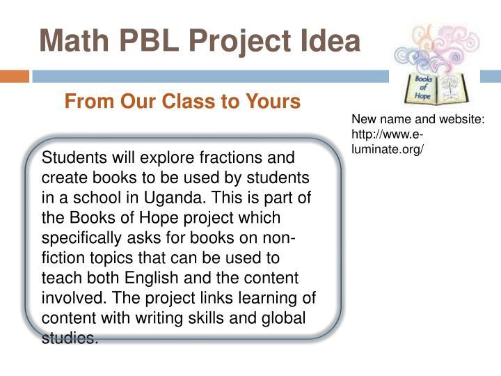 Math PBL Project Idea