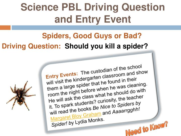 Science PBL Driving Question and Entry Event