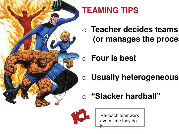 TEAMING TIPS