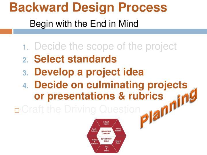 Backward Design Process