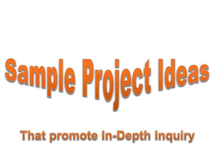 Sample Project Ideas