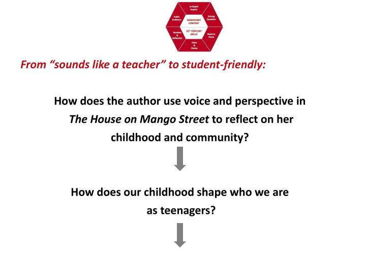 """From """"sounds like a teacher"""" to student-friendly:"""