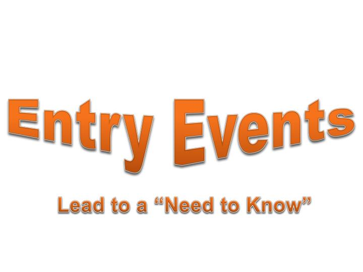 Entry Events