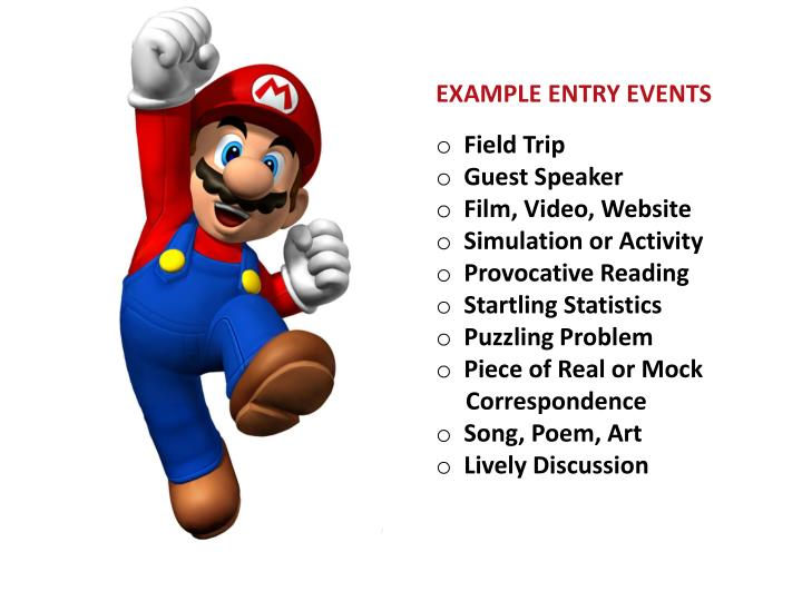 EXAMPLE ENTRY EVENTS