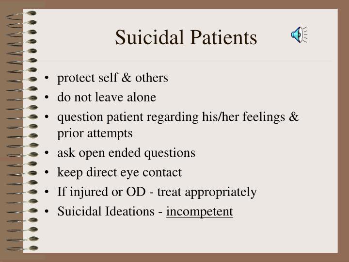 Suicidal Patients
