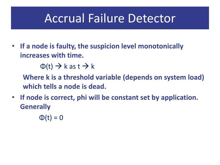 Accrual Failure Detector