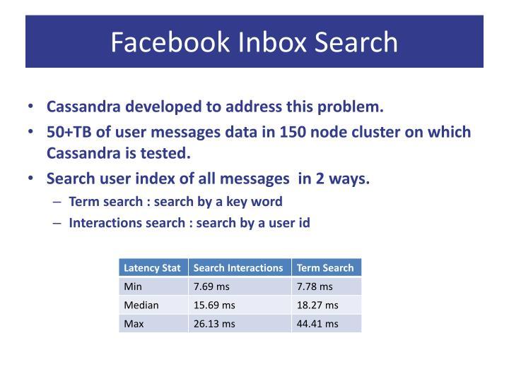 Facebook Inbox Search
