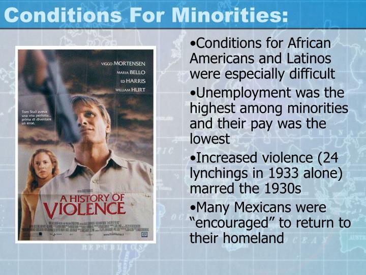 Conditions For Minorities: