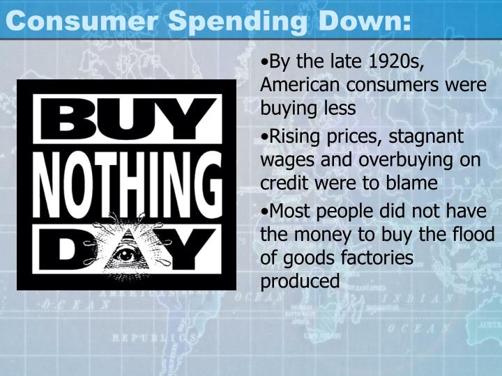 Consumer Spending Down: