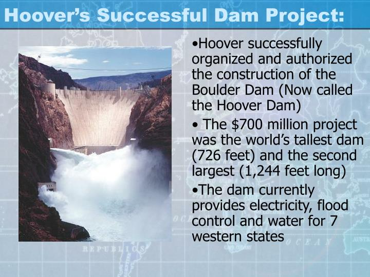 Hoover's Successful Dam Project: