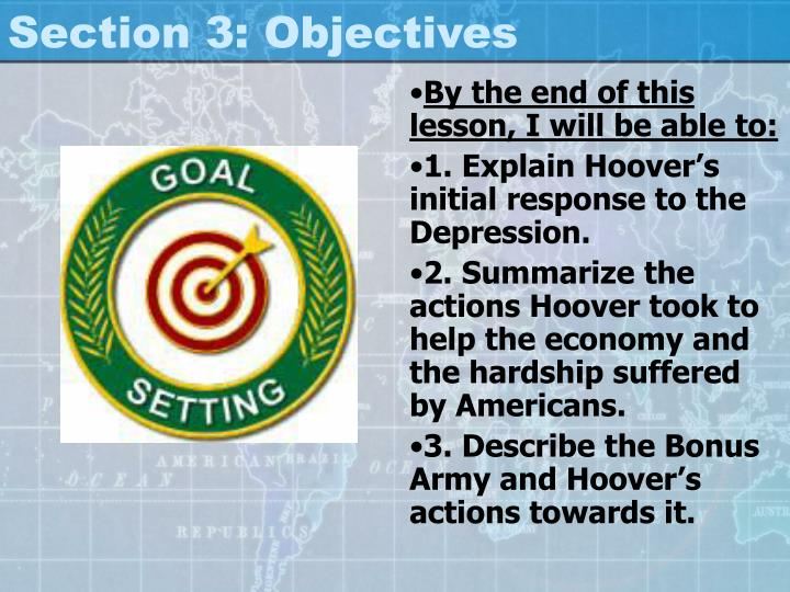 Section 3: Objectives