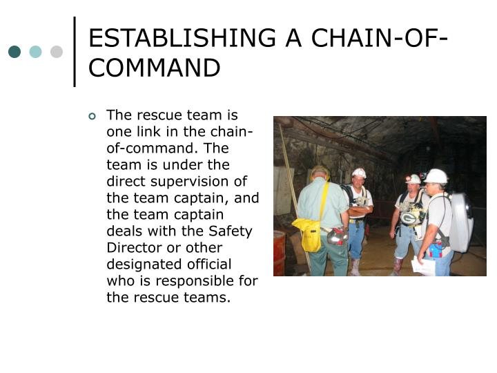 ESTABLISHING A CHAIN-OF-COMMAND