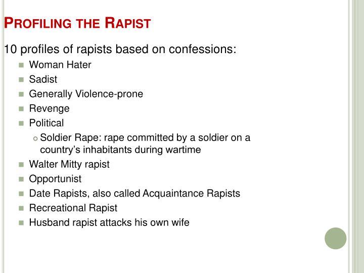 Profiling the Rapist