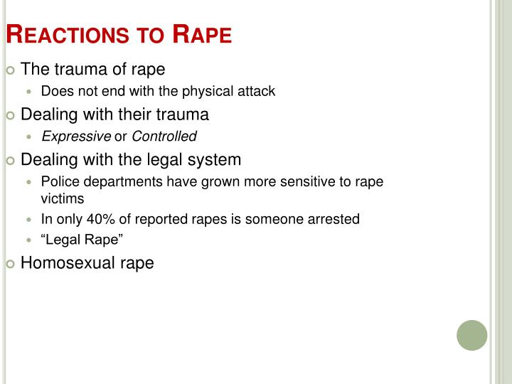 Reactions to Rape