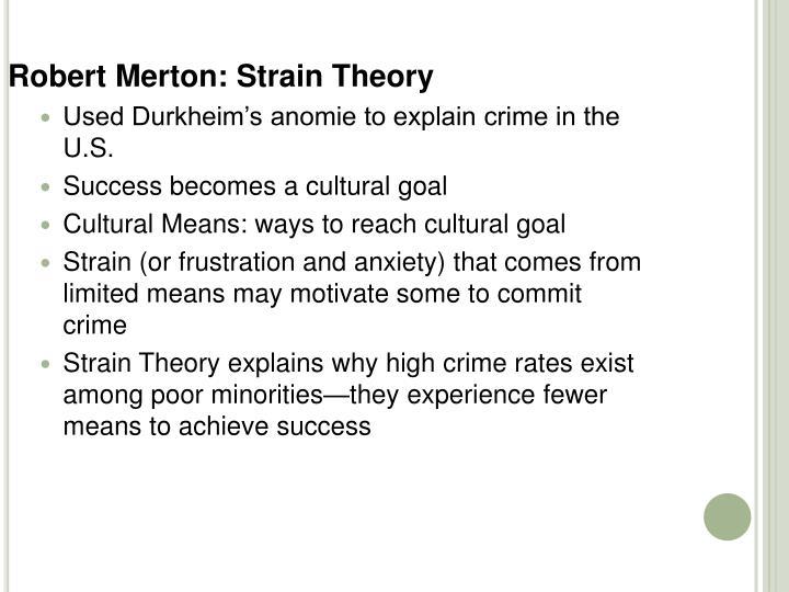 Robert Merton: Strain Theory