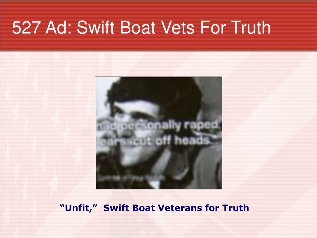 527 Ad: Swift Boat Vets For Truth
