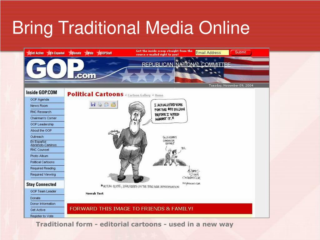 Bring Traditional Media Online