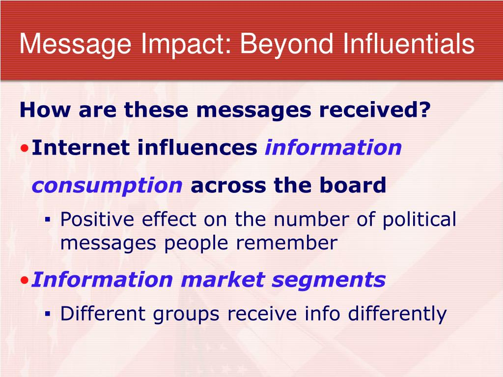 Message Impact: Beyond Influentials