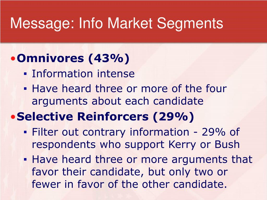 Message: Info Market Segments